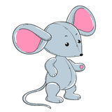 Little mouse soft toy plush.  Royalty Free Stock Photography