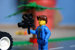 Little movie maker. Is making a movie stock photography