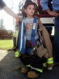 Little Mr. Firefighter! Royalty Free Stock Image
