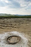 Little mud volcano Stock Photos