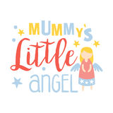 Little mummys angel, colorful hand drawn vector Illustration Stock Image