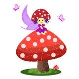 Little mushroom fairy Royalty Free Stock Photo