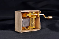 Little music box. Isolated on the black background Royalty Free Stock Images