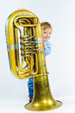 Little musician. Royalty Free Stock Images