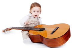 Little musician Stock Photo