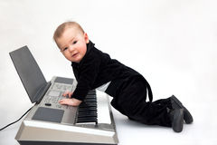 Little musician Stock Photography