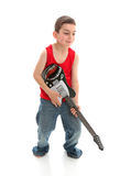 Little musician playing a guitar Stock Photo
