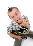 Little musician playing guitar Stock Image