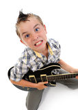 Little musician playing guitar Royalty Free Stock Photo