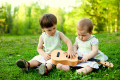 Little musicians Stock Photography