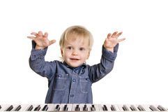 Little musicman Stock Images