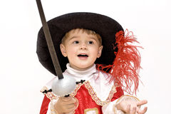 Little musketeer. Stock Photo