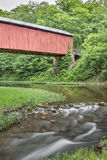 Little Muskingum River and Hume Covered Bridge Stock Photography