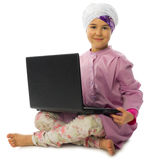 Little muslim girl isolated Royalty Free Stock Photo