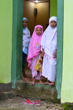 Little Muslim Girls royalty free stock photo