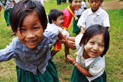 Little Myanmar Students At School Royalty Free Stock Photo