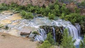 Little Navajo Falls Reflecting Pools Stock Photos