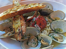 Little Neck and Lobster Linguine Royalty Free Stock Photos