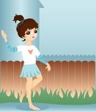 Little Neighbor Girl royalty free illustration