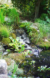Little neutral  waterfall in the garden. Stock Images