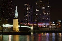 Little new york. Status of Liberty in Paris Royalty Free Stock Photos