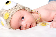 Little newborn baby boy Stock Photo
