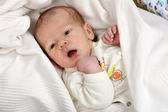 Little newborn baby boy Royalty Free Stock Photography