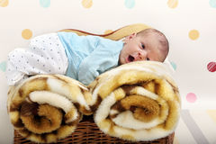 Little newborn baby boy Stock Photography
