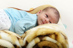 Little newborn baby boy Royalty Free Stock Photos