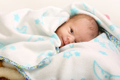 Little newborn baby boy one month old Stock Photography