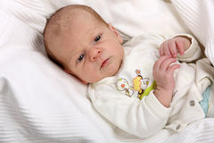 Little newborn baby boy one month old Royalty Free Stock Photography
