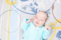 Little newborn baby boy two weeks Stock Photography