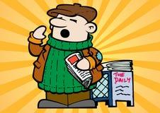 Little Newspaper Vendor Stock Image