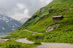Little nice House high in the mountains of the Alps in kaprun Stock Photography