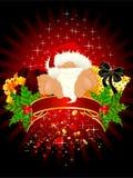 Little nice santa Claus vector illustration