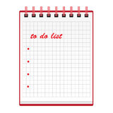 Little notebook. Illustration of a notebook with to-do list Royalty Free Stock Photo