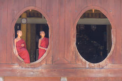 Little Novice ,  Shwe Yan Pyay Monastery ,Nyaung Shwe   in Myanm Stock Image