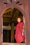 Little Novice ,  Shwe Yan Pyay Monastery ,Nyaung Shwe   in Myanm Royalty Free Stock Image