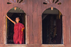 Little Novice ,  Shwe Yan Pyay Monastery ,Nyaung Shwe   in Myanm Royalty Free Stock Images