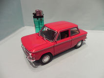 Little NSU Prinz. Trieste, TS, Italy - March 5, 2015: My miniature of an old NSU Prinz, mythical car produced in Germany since 1957 Stock Images