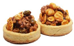 Little nuts tarts. royalty free stock photography