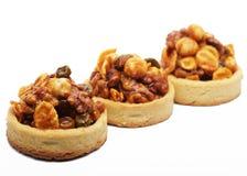 Little nuts tarts. Stock Photo