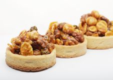 Little nuts tarts. Royalty Free Stock Photos