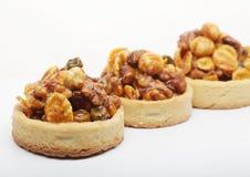 Little nuts tarts. royalty free stock photos