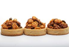 Little nuts tarts. Royalty Free Stock Photo