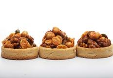 Little nuts tarts. royalty free stock photo