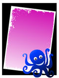 Little octopus. On gradient background royalty free illustration
