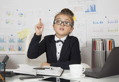 Little office girl Royalty Free Stock Photo