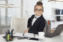 Little office worker Stock Photography