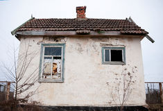 Little old abandoned house. Against the sky Stock Images